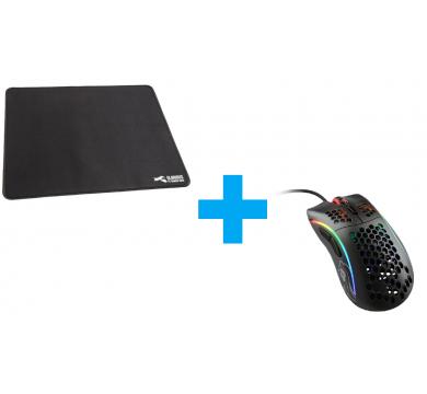 Glorious Model D (Matte Black) + XL Heavy Mousepad