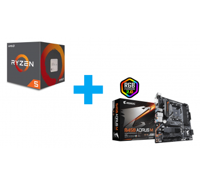 AMD Ryzen 5 2600 + GIGABYTE B450 AORUS M