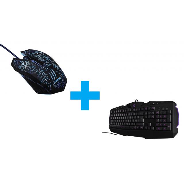 uRage Illuminated Keyboard+Illuminated² Mouse