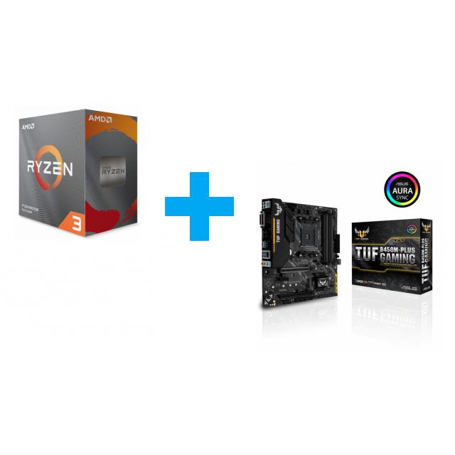 AMD Ryzen 3 3100 + ASUS TUF B450M-Plus Gaming