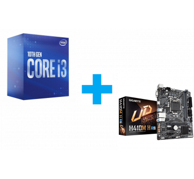 Intel Core i3-10100F + GIGABYTE H410M-H