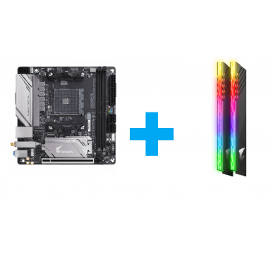 GIGABYTE B450 I AORUS PRO WIFI + AORUS RGB 16GB (2x8GB) 3200MHz