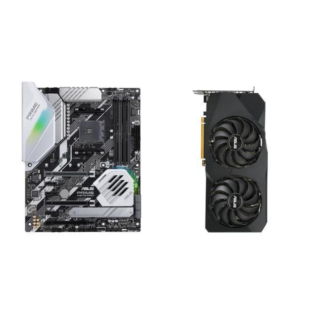 Комплект дъно Asus Prime X570-Pro и видео карта Asus DUAL Radeon RX 5700 EVO OC Edition 8GB GDDR6 EVO