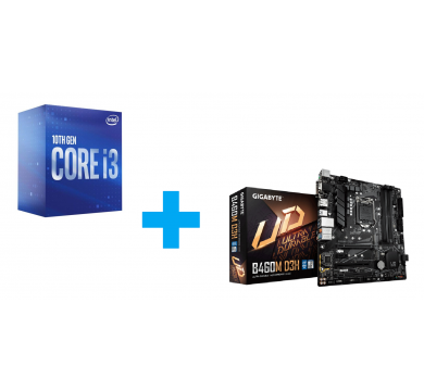 Intel Core i3-10300 + GIGABYTE B460M D3H