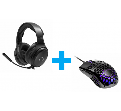 Cooler Master MM711 Glossy Black RGB + MH670
