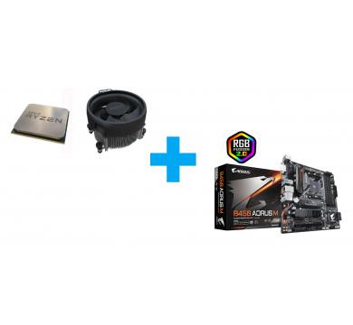 AMD Ryzen 3 3100 MPK + GIGABYTE B450 AORUS M