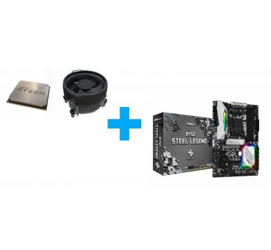 AMD Ryzen 5 3400G MPK + ASRock B450 Steel Legend
